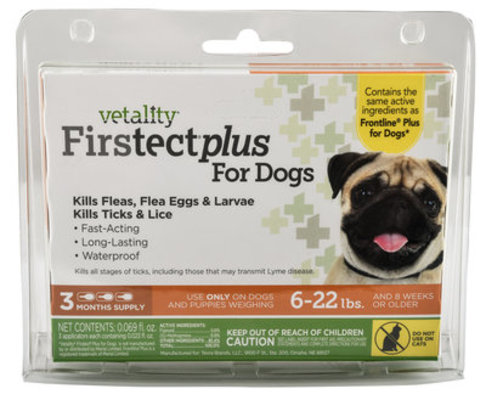 Vetality Firstect Plus for Dogs, 3-pack
