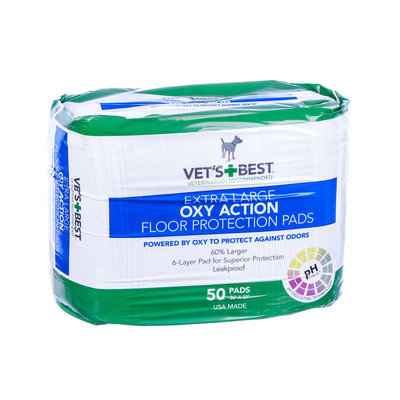 Vet's + Best Oxy Action XL Floor Protection Pads - 50 count