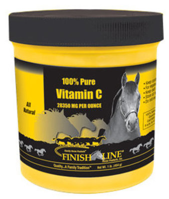 Item No.: OTC-JVET-FRQ2.  100% Pure Vitamin C, Animal: Horse Category: Health & Wellness, Sub Category: Vitamins & Supplements-,      Brand: Finish Line     Type: Vitamins     May Comes in Diff. Pack