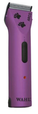 Wahl Arco Clipper with 5-in-1 Blade, Purple w/ Paw Prints