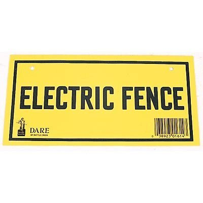 Electric Fence Warning Signs, pack of 3