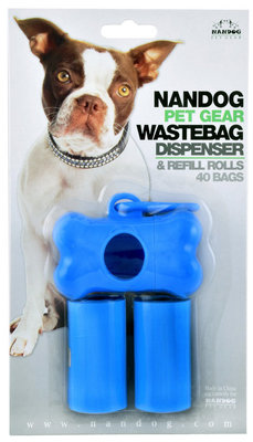 Waste Bag Dispenser with 40 Bags