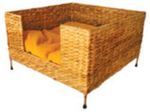 Square Water Hyacinth Cat Bed
