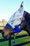 Exclusive WeatherBeeta Llama Print ComFITec Essential Fly Mask with Ears