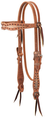 "Weaver ""Copper Blossom"" Browband Headstall"
