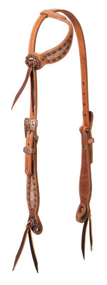 "Weaver ""Copper Blossom"" Sliding Ear Headstall"