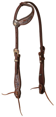 "Weaver ""Patina Rose"" Sliding Ear Headstall"