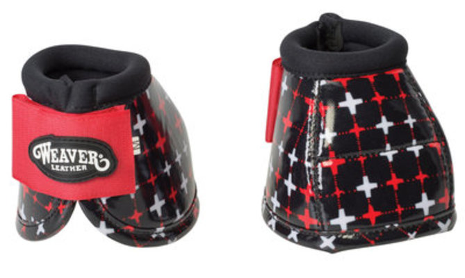Weaver Patterned No-Turn Bell Boots, Large