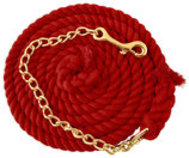 Jeffers Cotton Lead Ropes with Chain
