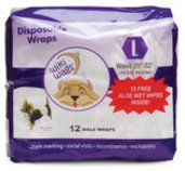 Wiki Wags Disposable Male Wraps, X-Small