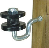 Wood Post Screw-In Corner Insulator