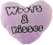Woofs & Kisses Plush Conversation Heart