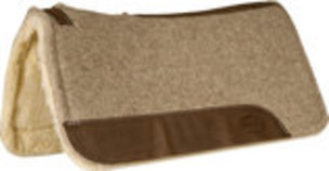 "Wool Contoured Saddle Pad with Fleece Bottom, 32"" x 31"""