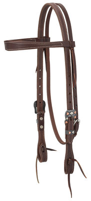 Working Tack Chevron Designer Hardware Browband Headstall