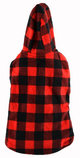 Toggle Buffalo Plaid Trim Dog Jacket