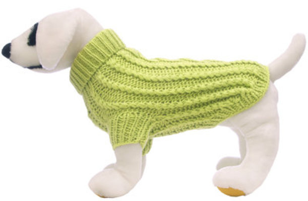 "16"" Cable Knit Dog Sweater, X-Large"