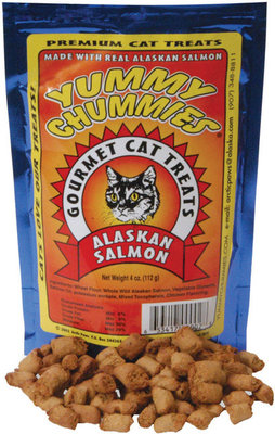 Yummy Chummies Cat Treats,  Salmon,  4 oz