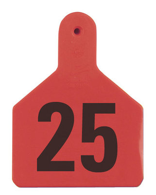Z Tags Numbered Ear Tags (Calf), 25 count