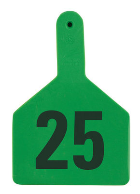 Z Tags Numbered Ear Tags (Cow), 25 count