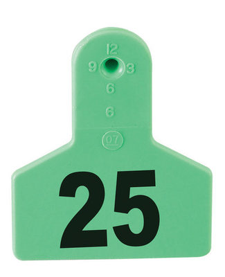 Z Tags Numbered Livestock Ear Tags (Small), 25 count