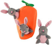 Zippy Paws Bunnies 'n Carrot Burrow Plush Puzzle Toy