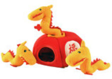 Zippy Paws Chinese Lantern Burrow Plush Puzzle Toy