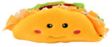 Zippy Paws NomNomz Taco Plush Dog Toy
