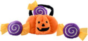 Zippy Paws Trick-or-Treat Basket Halloween Burrow Dog Toy