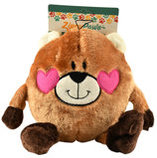 Zippy Paws Braineys Bear in Love Dog Toy