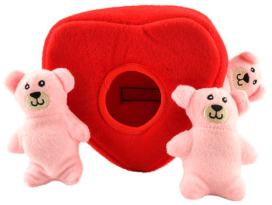 Zippy Paws Heart 'n Bears Burrow Plush Puzzle Toy