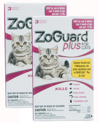 ZoGuard Plus for Cats, 6 pack