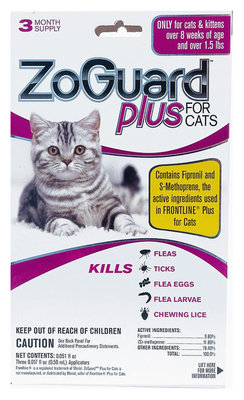 ZoGuard Plus for Cats, 3 pack