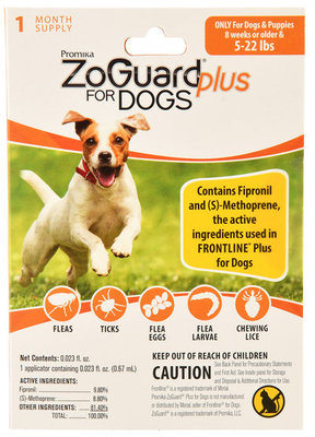 ZoGuard Plus Spot-On for Dogs, 1 month supply
